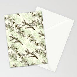 Christmas tree pattern. Stationery Cards