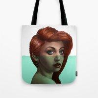 ariel Tote Bags featuring Ariel by RachelHam