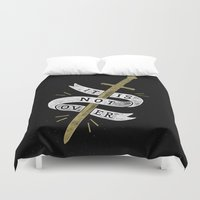 gryffindor Duvet Covers featuring It Is Not Over by WEAREYAWN
