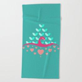 Be Beautiful - Be Colourful Peacock Beach Towel
