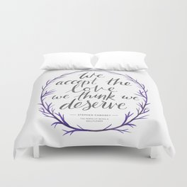 The Perks of Being a Wallflower quote Duvet Cover