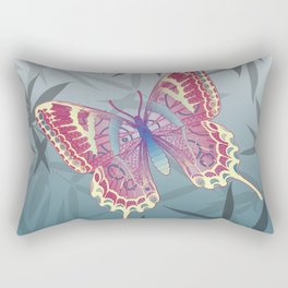 Unique Butterfly Bamboo leaves Pattern Rectangular Pillow