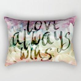 Love Always Wins Rectangular Pillow