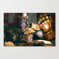 thanos Canvas Prints featuring Thanos: Infinity Gauntlet  by MATT DEMINO