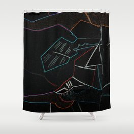 Cubist Trails Shower Curtain