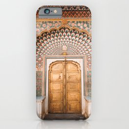 Peacock Gate at City Palace Jaipur in Rajasthan, India | Travel Photography | iPhone Case