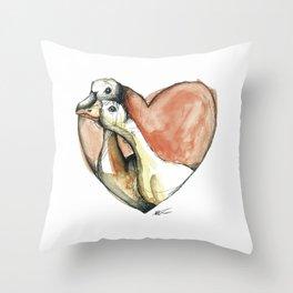 Goose Kisses Throw Pillow