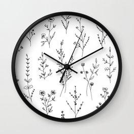 New Wildflowers Wall Clock