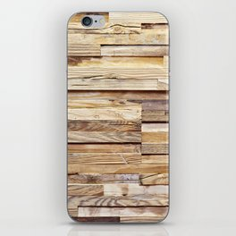 Background of old wooden pieces iPhone Skin