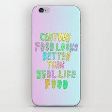 CARTOON FOOD LOOKS BETTER THAN REAL LIFE FOOD iPhone & iPod Skin