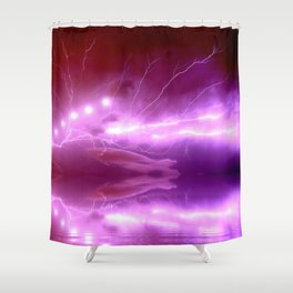 Lightning and Visitors Shower Curtain