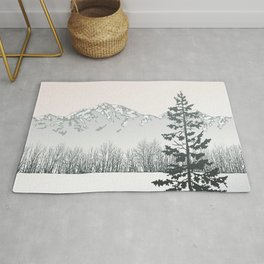 Tree in the winter Rug