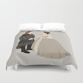 Outlander, Jamie and Claire Duvet Cover