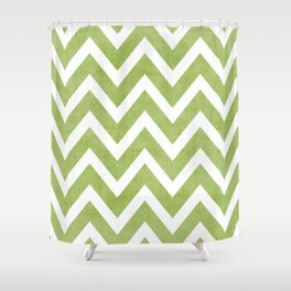 lucky chevron Shower Curtain