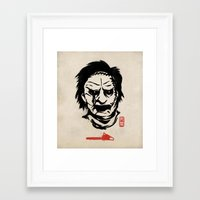 butcher billy Framed Art Prints featuring Butcher by pigboom el crapo