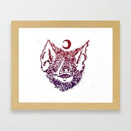 INFAMOUS BAT HEAD Framed Art Print