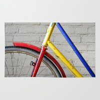 bike Area & Throw Rugs featuring Bike by Marieken