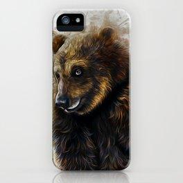 Brown Bear Art iPhone Case