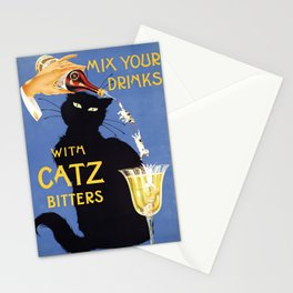 Black Cat vintage Booze ad Stationery Cards