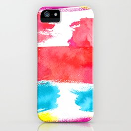 Watercolor Brush Strokes iPhone Case
