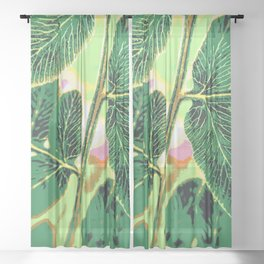 party fern Sheer Curtain