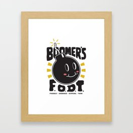 Happy Bomb Framed Art Print