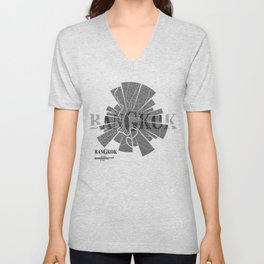 Bangkok Map Unisex V-Neck