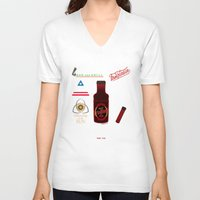 true blood V-neck T-shirts featuring True Blood Logos by CLM Design
