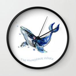 Whale Artowrk, Humpback Whale Wall Clock