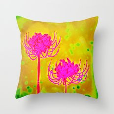 Spider Lily Flowers Throw Pillow