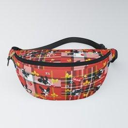 Mirabelle the boston terrier tartan Fanny Pack