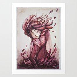 "Wintery uterus I ""Blood Flower"" Art Print"