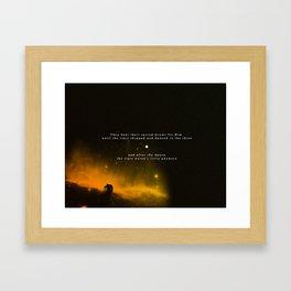 The Stars Danced Framed Art Print