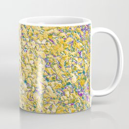 manipulated and digital photography of rough wall texture with numerous color gradients Coffee Mug