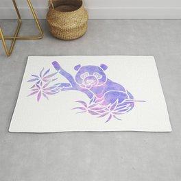 Purple panda silhouette Rug