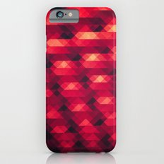 Abstract Color Pattern in Red Slim Case iPhone 6s