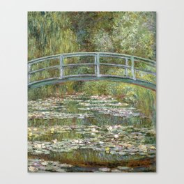 Bridge over a Pond of Water Lilies by Claude Monet Canvas Print