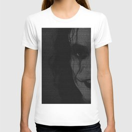 The Crow Screenplay Print (B&W) T-shirt