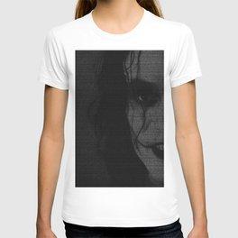 The Crow Screenplay Print (B&W) T-shirt