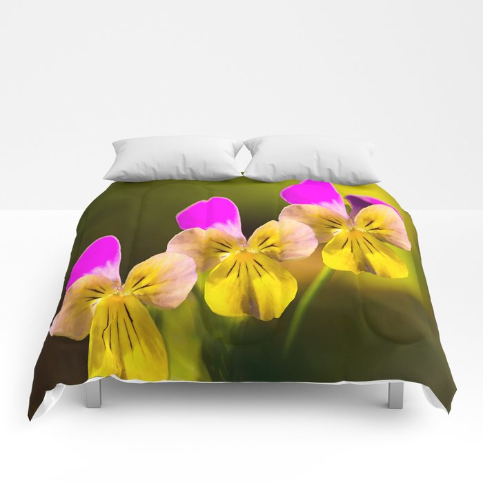 Colorful violets  - beauties of nature - #Society6 - #Buyart Comforters