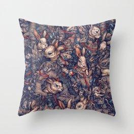 Bunnerflies Throw Pillow