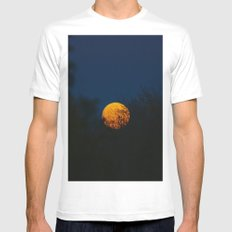 THE BIG HARVEST MOON MEDIUM Mens Fitted Tee White