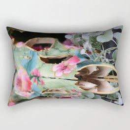 Painted Skull - II Rectangular Pillow