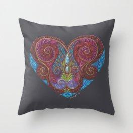 Heart Totem Throw Pillow