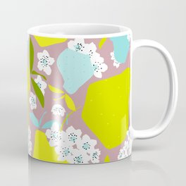Pears + Pear Blossoms Coffee Mug