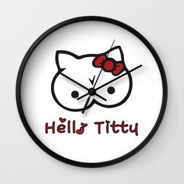 Hello Titty Wall Clock