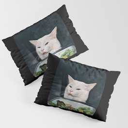 Woman Yelling at Cat Meme-4 Pillow Sham