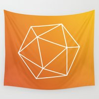 geometry Wall Tapestries featuring Geometry by Geometry