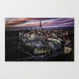 Old Town Tallinn Canvas Print