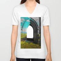 portal V-neck T-shirts featuring Portal by Tobias Bowman